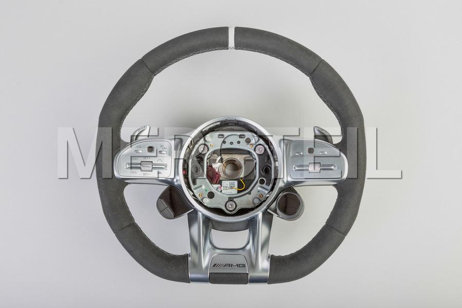 AMG Black Alcantara Steering Wheel White Insertion; A0004608813 1B81.