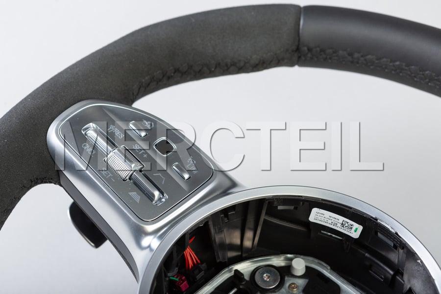 AMG Black Leather Alcantara Steering Wheel; 0004604809 9E38.