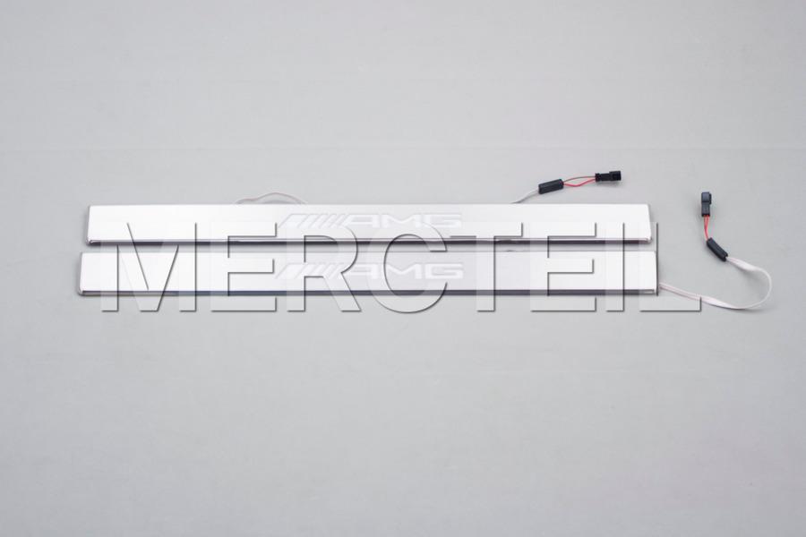 AMG Illuminated Door Sill Panels for E-Class & CLS Class (part number: A2126802635, A2126802735)