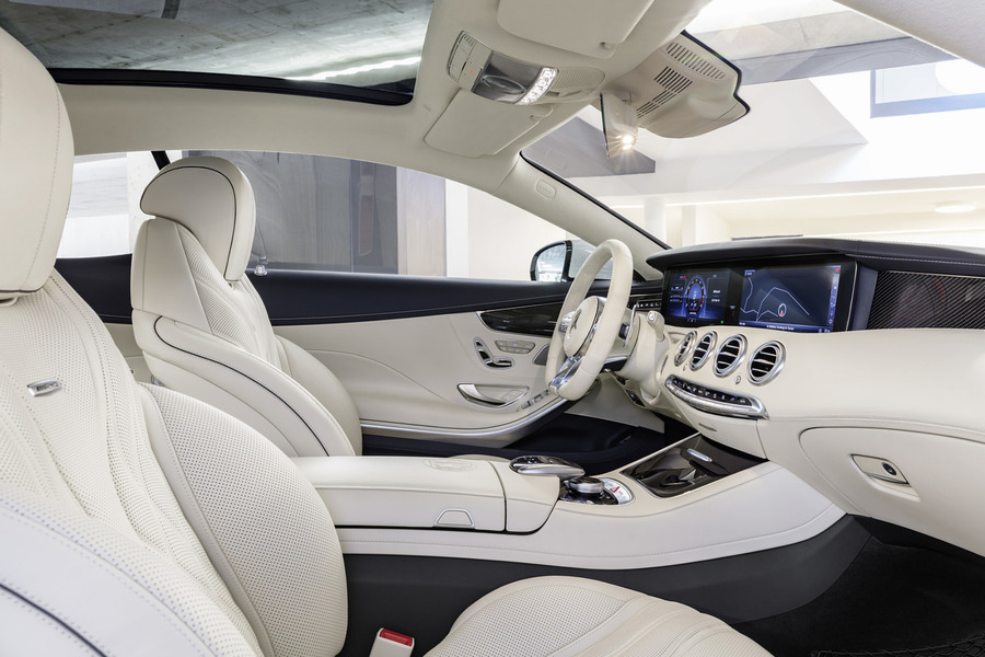 S class coupe AMG beige carbon interior