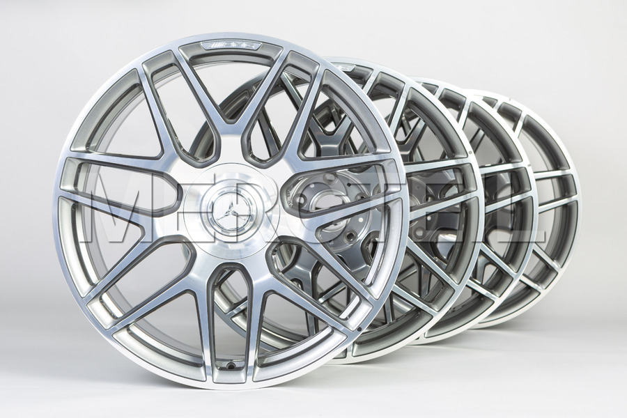 GLE 63 AMG 22 Inch Set Of Grey Forged Wheels for GLE Class W167; Part Number A16740145007X21, 1674014500 7X21.