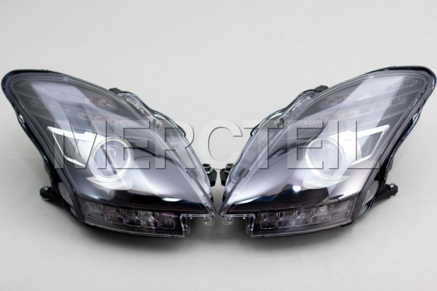 AMG SLS Black Series / GT Black Headlights for C197 (part number:  A1978203661)